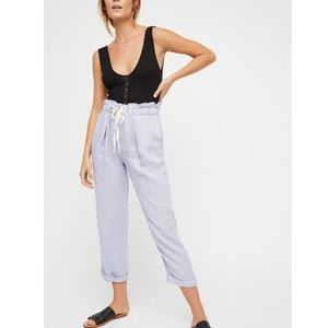 Free People Straight Leg Linen Pants